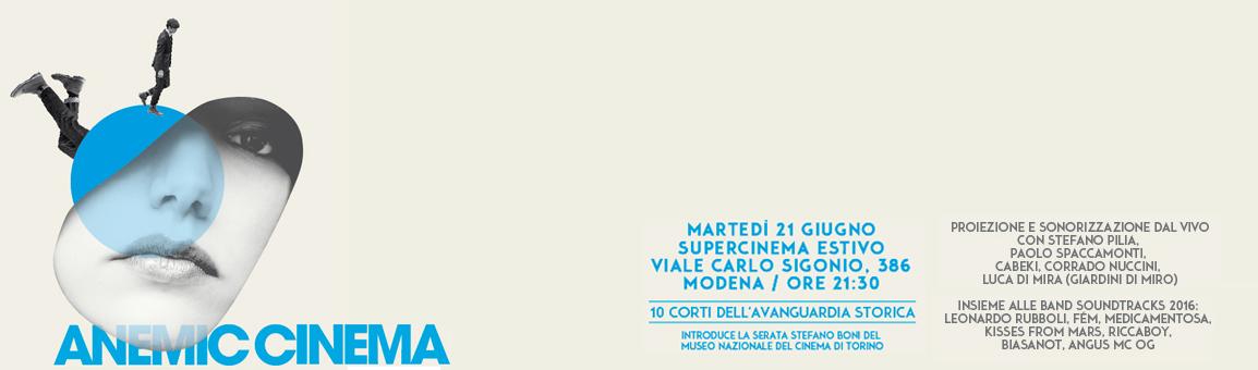 21 giugno, Supercinema Estivo.  Soundtracks 2016