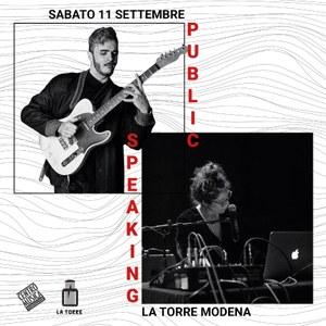 Public Speaking: La Torre, 11 settembre 2021